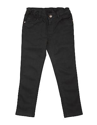 U.S. Polo Assn. Kids Girls Dark Wash Slim Fit Jeans