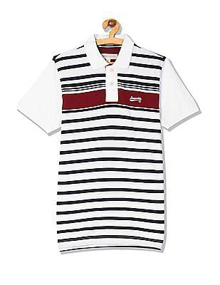 Aeropostale Stripe Pique Polo Shirt