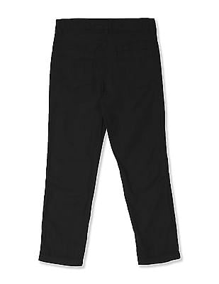 Cherokee Blue Boys Flat Front Solid Trousers