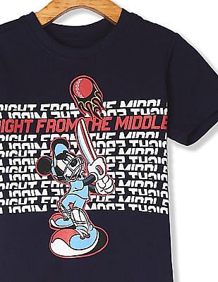 Colt Blue Boys Mickey Mouse Graphic Short Sleeve T-Shirt