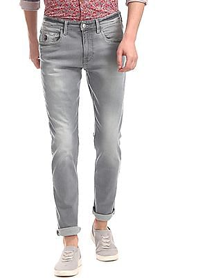 U.S. Polo Assn. Denim Co. Grey Brandon Slim Tapered Fit Washed Jeans