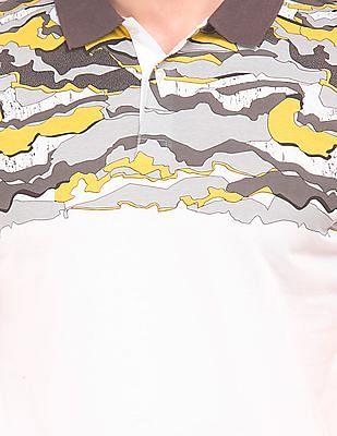 Arrow Newyork Camouflage Printed Regular Fit Polo Shirt