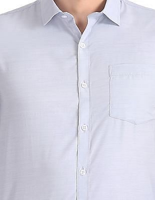 Excalibur Patterned Weave Cotton Shirt