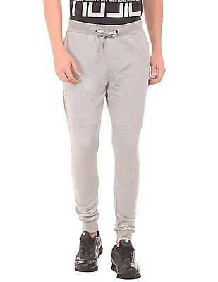 Flying Machine Drawstring Waist Panelled Joggers