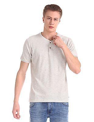 Cherokee Short Sleeve Henley T-Shirt