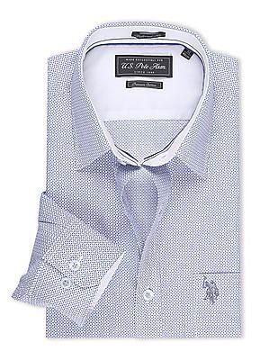 USPA Tailored Printed Regular Fit Shirt