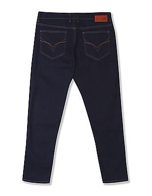 Flying Machine Mankle Tapered Fit Dark Wash Jeans
