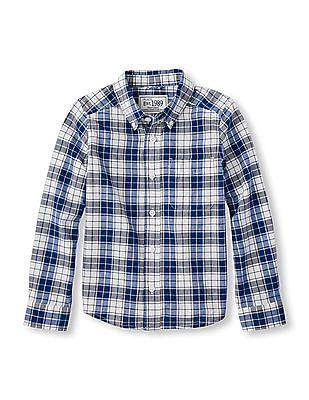 The Children's Place Boys Button Down Check Shirt