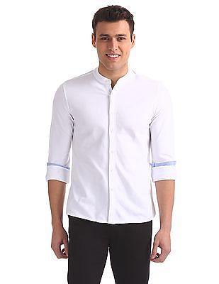 Arrow Sports Slim Fit Pique Shirt