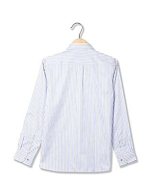 Arrow Stitchless Patterned Striped Shirt