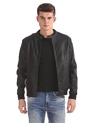 U.S. Polo Assn. Denim Co. Ribbed Hem Biker Jacket