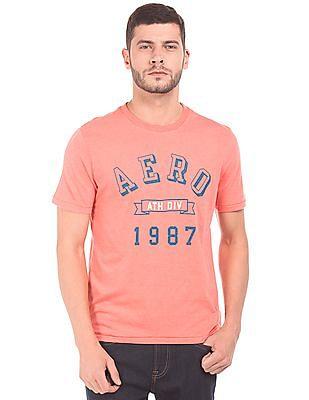 Aeropostale Brand Print Crew Neck T-Shirt