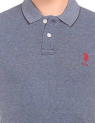 U.S. Polo Assn. Patterned Knit Slim Fit Polo Shirt
