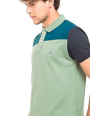 Bayisland Colour Block Regular Fit Polo Shirt