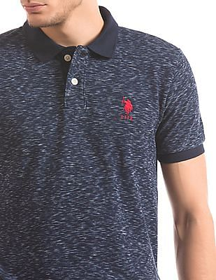 U.S. Polo Assn. Slim Fit Slubbed Polo Shirt