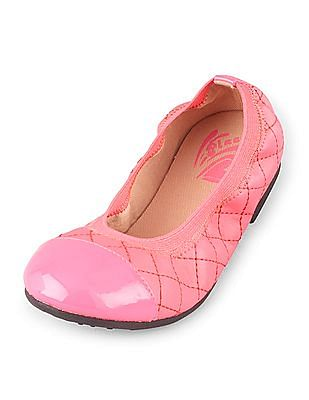The Children's Place Girls Quilted Kayla Ballet Flats