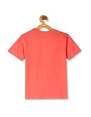 Cherokee Pink Boys Crew Neck Short Sleeve T-Shirt