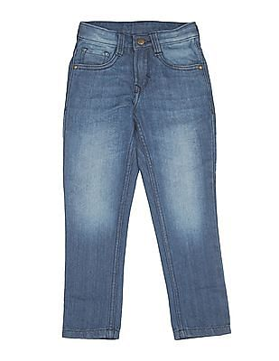 FM Boys Stone Wash Skinny Fit Jeans