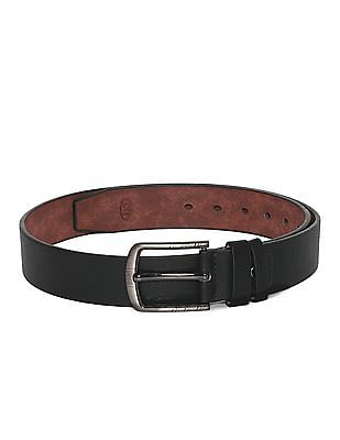 Colt Black Metallic Buckle Textured Belt
