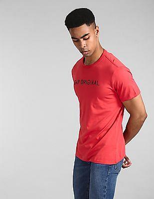 GAP Red Original Crewneck T-Shirt