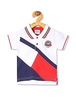 Donuts Boys Colour Blocked Pique Polo Shirt