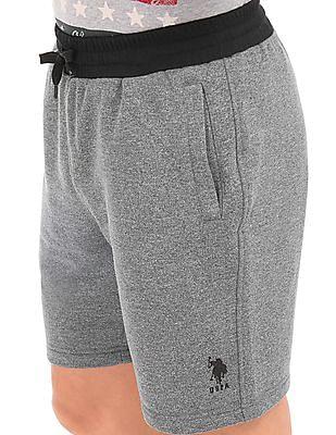 USPA Active Heathered EquiDry Shorts