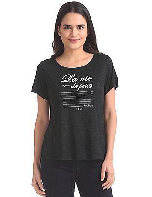 Elle Studio Embellished Front Knit Top
