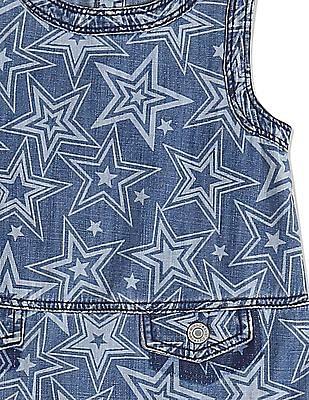 GAP Toddler Girl Blue Starry Jumper