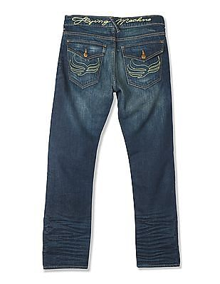 Flying Machine Slim Fit Washed Jeans