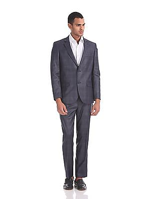 Arrow Body Tailored Regular Fit Check Suit