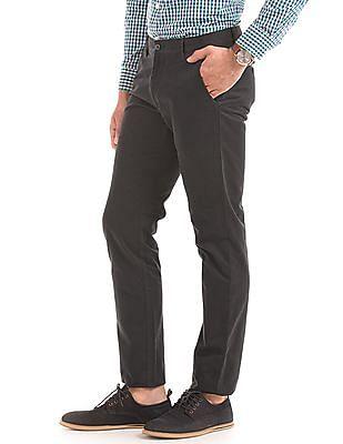Arrow Sports Flat Front Slim Fit Trousers