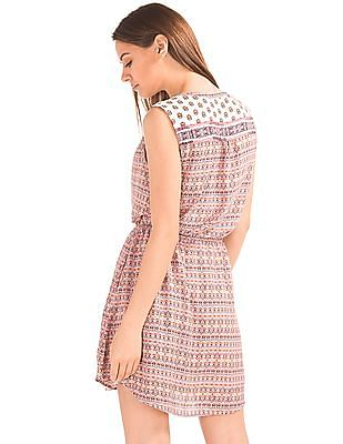 GAP Women Pink Medallion Shirt Dress