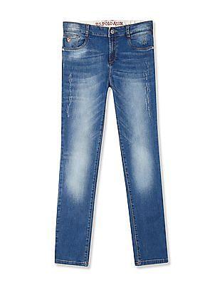 31f99c09f55 Buy Boys UKJN5442 Me. Blue Boys Jeans online at NNNOW.com