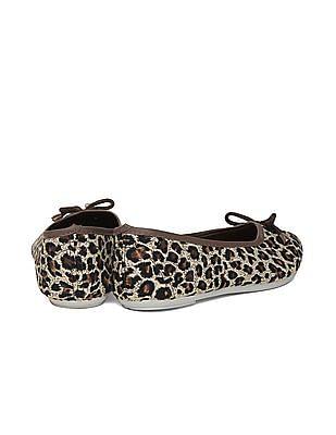 SUGR Leopard Print Canvas Ballerinas