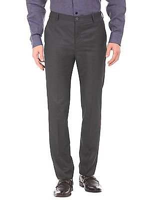 Arrow Newyork Flat Front Tapered Fit Trousers