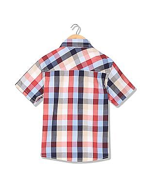 Cherokee Boys Short Sleeves Check Shirt
