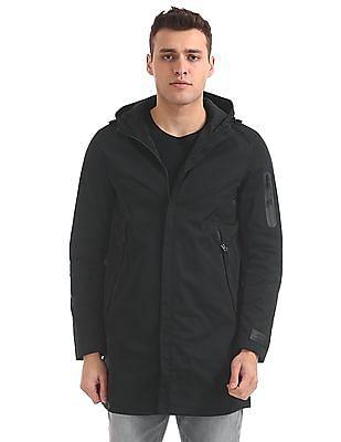 Ed Hardy Panelled Hooded Jacket