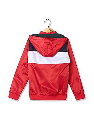 U.S. Polo Assn. Kids Boys Hooded Reversible Jacket