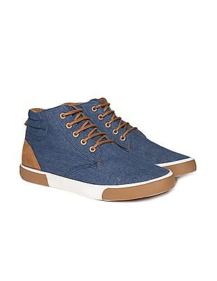 Colt Solid Canvas High Top Sneakers