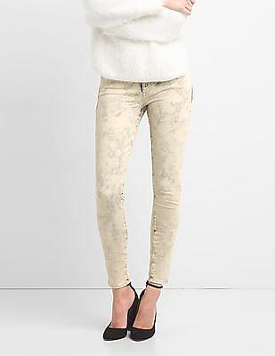 GAP Mid Rise Acid Wash True Skinny Jeans