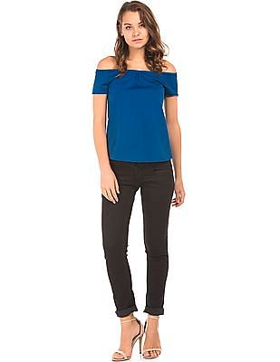 Cherokee High Low Hem Textured Top