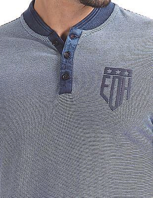 Ed Hardy Slim Fit Henley Neck T-Shirt
