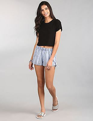 GAP Women Blue Woven Shorts