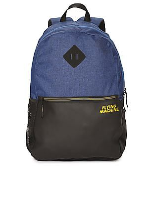 Flying Machine Colour Block Laptop Backpack