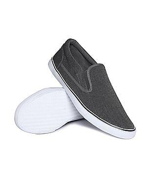 Aeropostale Patterned Canvas Slip On Shoes