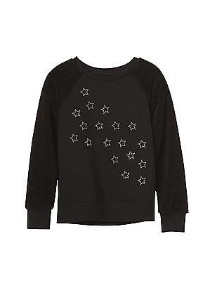 GAP Girls Embellished Pullover