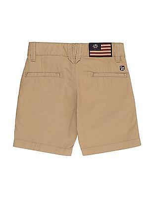 U.S. Polo Assn. Kids Boys Regular Fit Solid Shorts