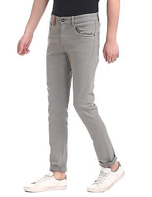 U.S. Polo Assn. Denim Co. Grey Brandon Slim Tapered Fit Mid Rise Jeans