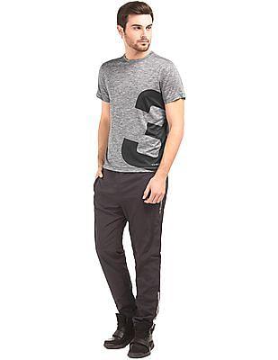 USPA Active Heathered Printed T-Shirt
