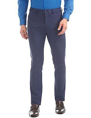 Arrow Newyork Super Slim Fit Knit Trousers